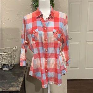 American Eagle lightweight plaid shirt